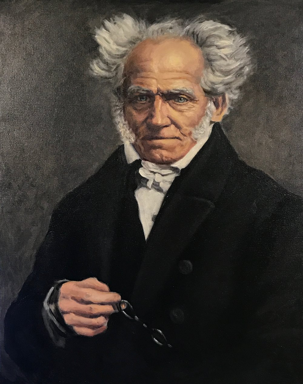 Portrait of Arthur Schopenhauer, oil on linen