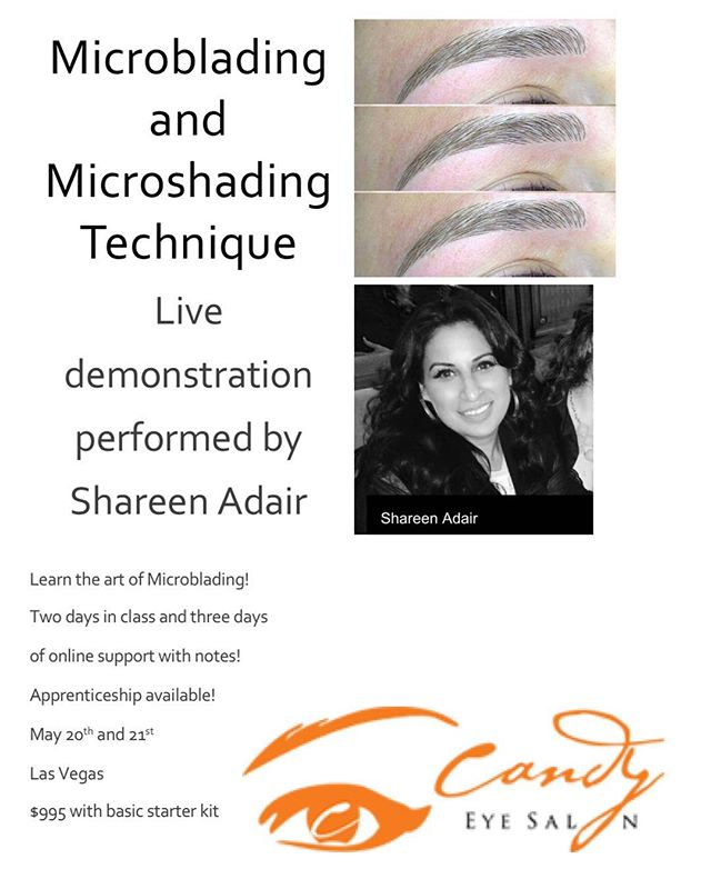 LAS VEGAS! ITS NOT TOO LATE TO SIGN UP FOR OUR TWO DAY MICOBLADING SEMINAR ON MAY 20th and 21st! Don't miss out on this great of $995! Email rebecca@icandysalon.com to sign up! #lasvegaslashes #lasvegas #lasvegaspermanentmakeup #lasvegaspmu #lasvegastraining #lasvegasmicrobladingtraining