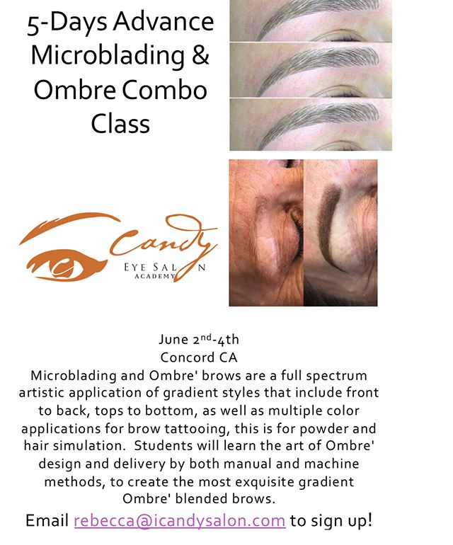 We only have a few more spots left for both of these classes! Advance in your career and take our two advance classes to learn the most popular services right now! Learn how to create perfect volume lashes and give your clients the mega volume they are looking for! And also, upgrade your clients with ombré brows! Everyone wants the perfect and natural Kim K brows! Email rebecca@icandysalon.com to reserve your spot! —————————————————— Five Day Microblading and Ombré Brows Course: June 2nd-4th: Concord CA  Two Day Advance Eyelash Extensions Course: June 9th and 10th: Danville, CA —————————————————— There are two spots left for each course! Sign up today and don't miss out on a great price! #ombrebrows #instagrambrows #boldbrows #microbladedbrows #featherbrows #powderbrows #eyelashextensions #eyelashextensionstraining #volumelashes #volumelashtraining #volumes #volumeset #permanentmakeup #permanentmakeuptraining #danville #concord