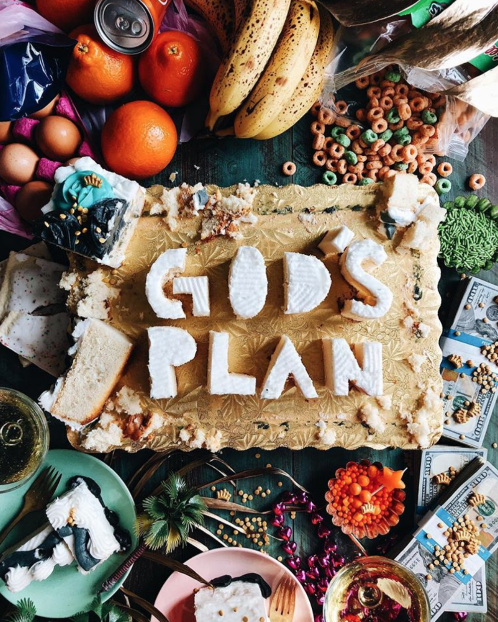 gods plan drake on cake