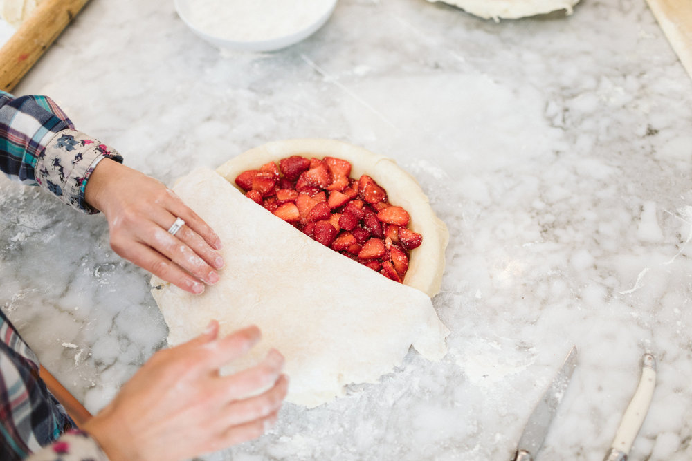 strawberry pie at the bakehouse