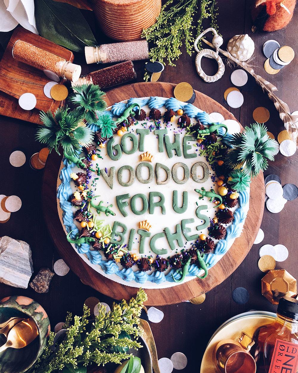 mardi gras drake on cake