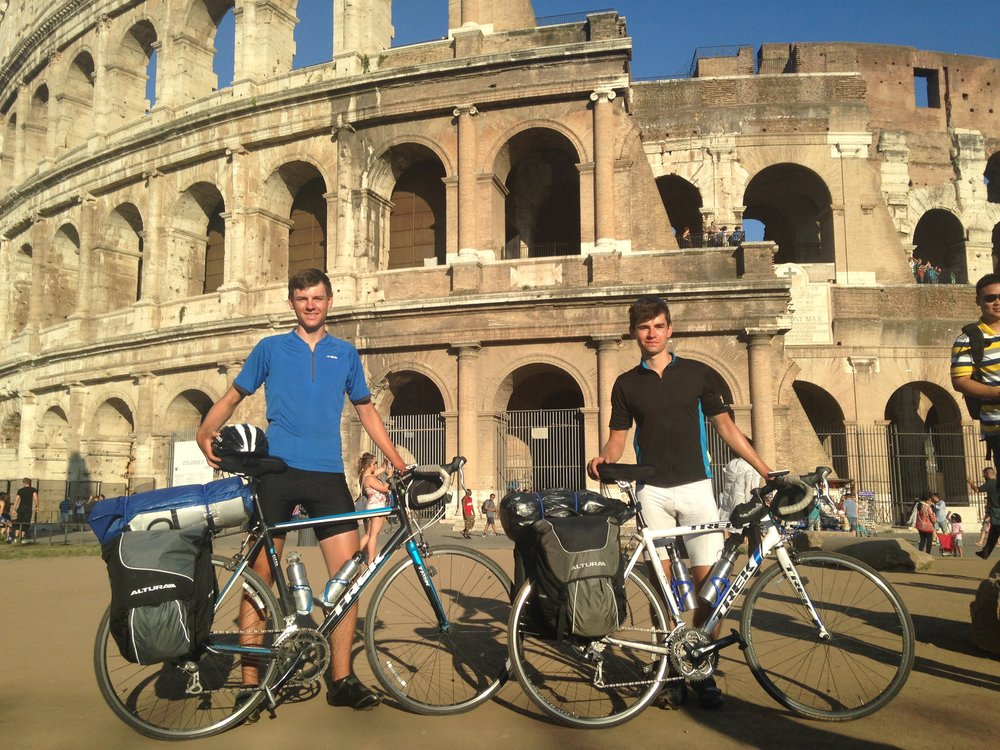 The finish line of London to Rome, 2014