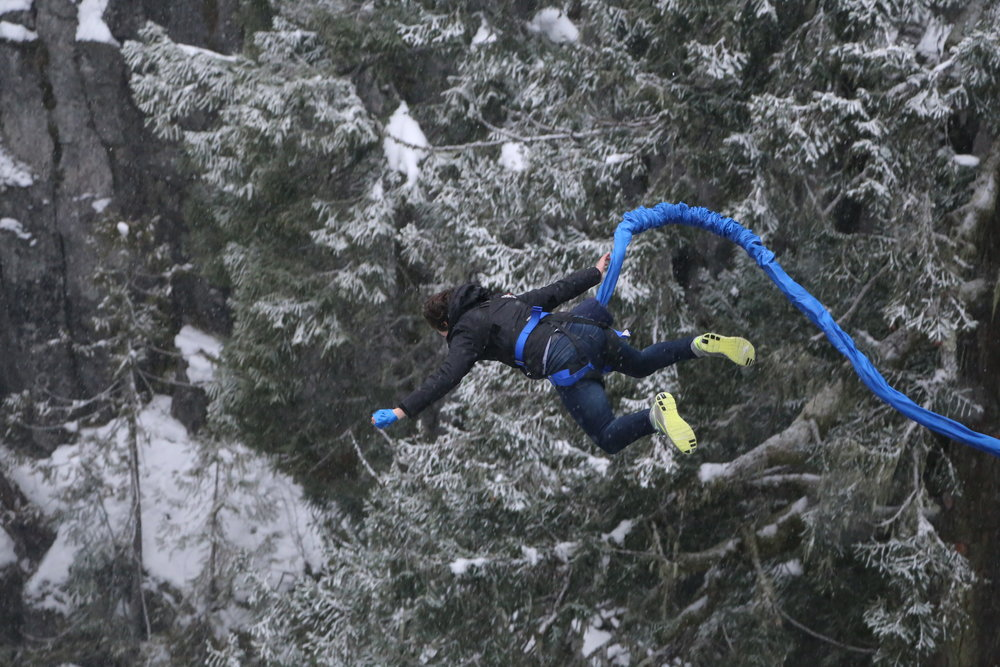A great way of challenging your fears, Whistler Bungee in Canada