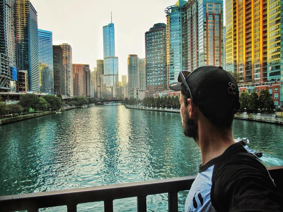Admiring the Chi-town skyline