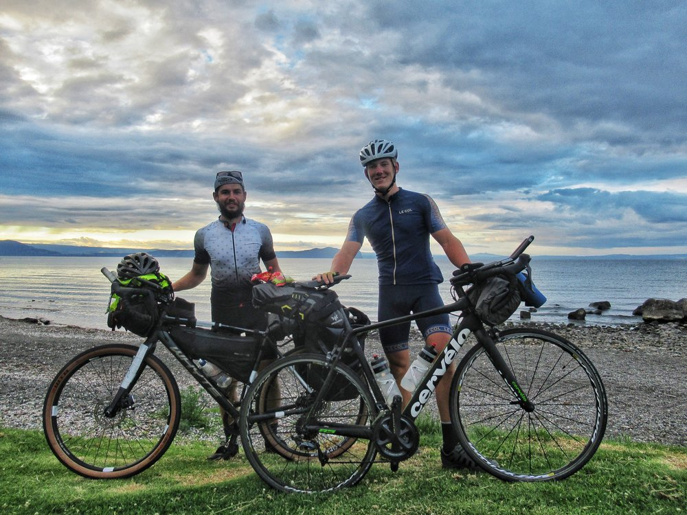 Riding with Charlie, Lake Taupo