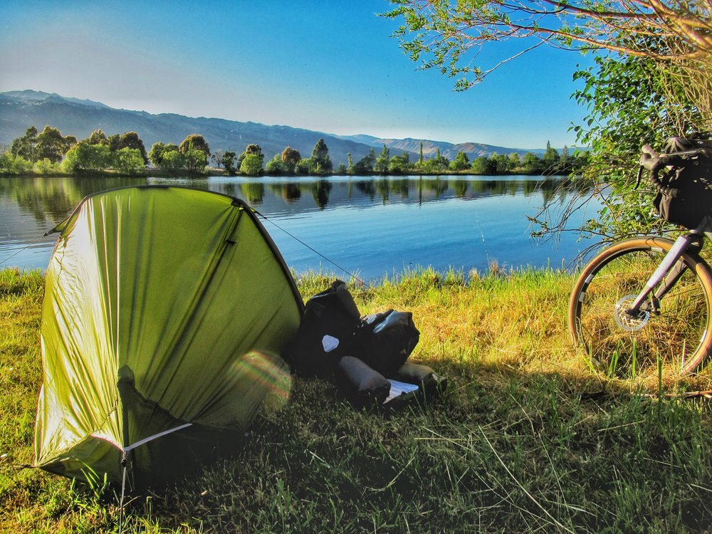 Camping out by Lake Dunstan, Cromwell