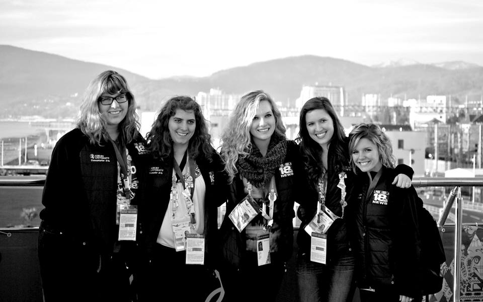 Madison, me, Meredith, Cassie and Ashley in front of the gorgeous Sochi scenery.