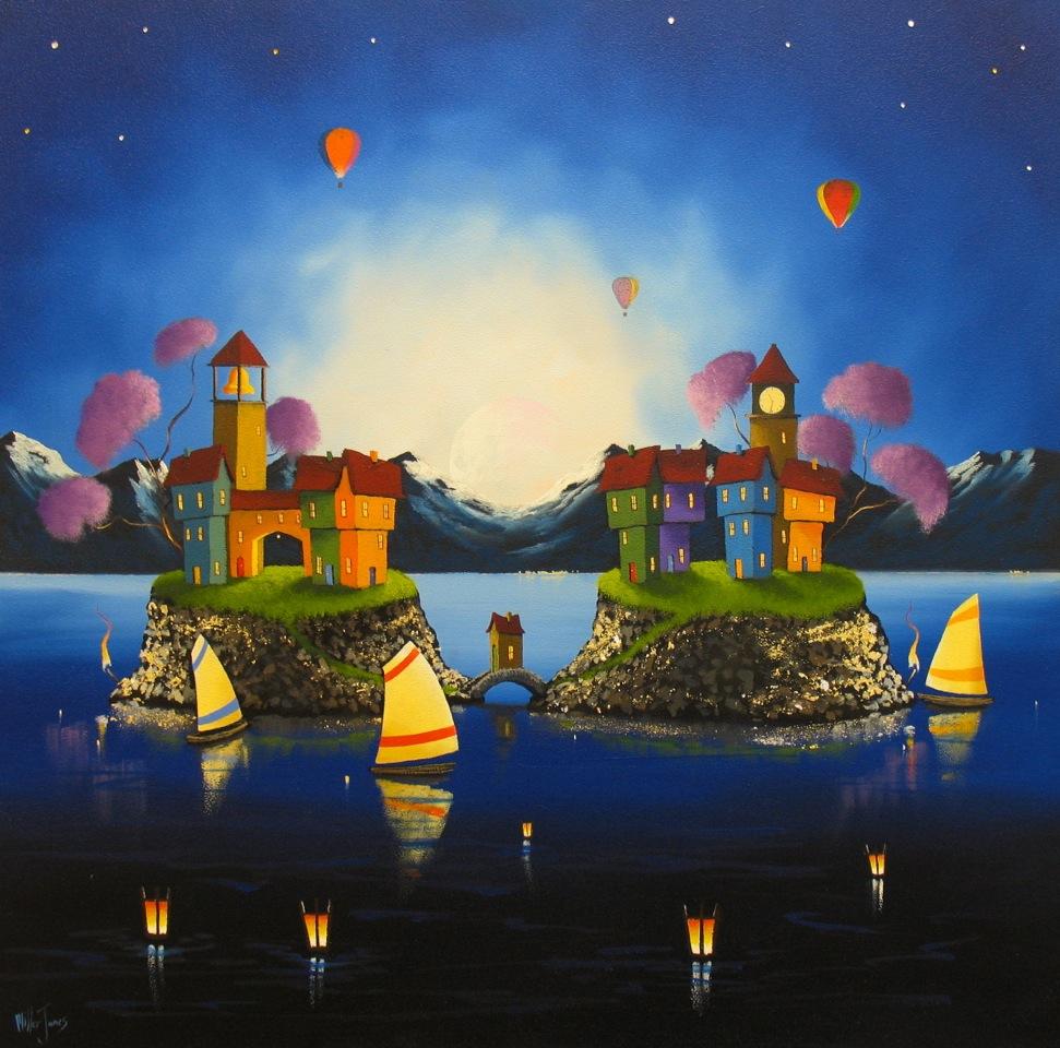 'Moonlight Lake' - Oil on Panel20