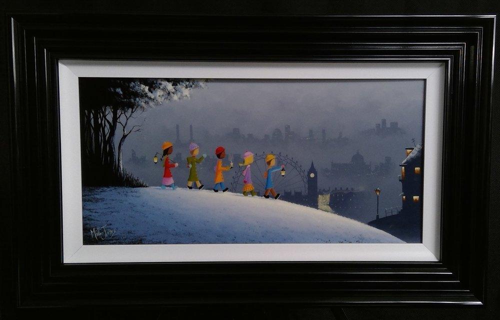 'London Winter Stroll' - 12x24Oil on PanelSOLD