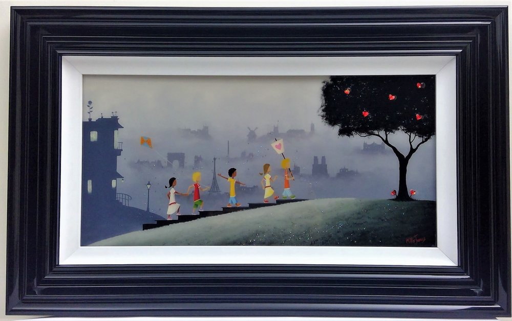 "'For Paris' - Framed size 20""x32""Was £360NOW £250SOLD"