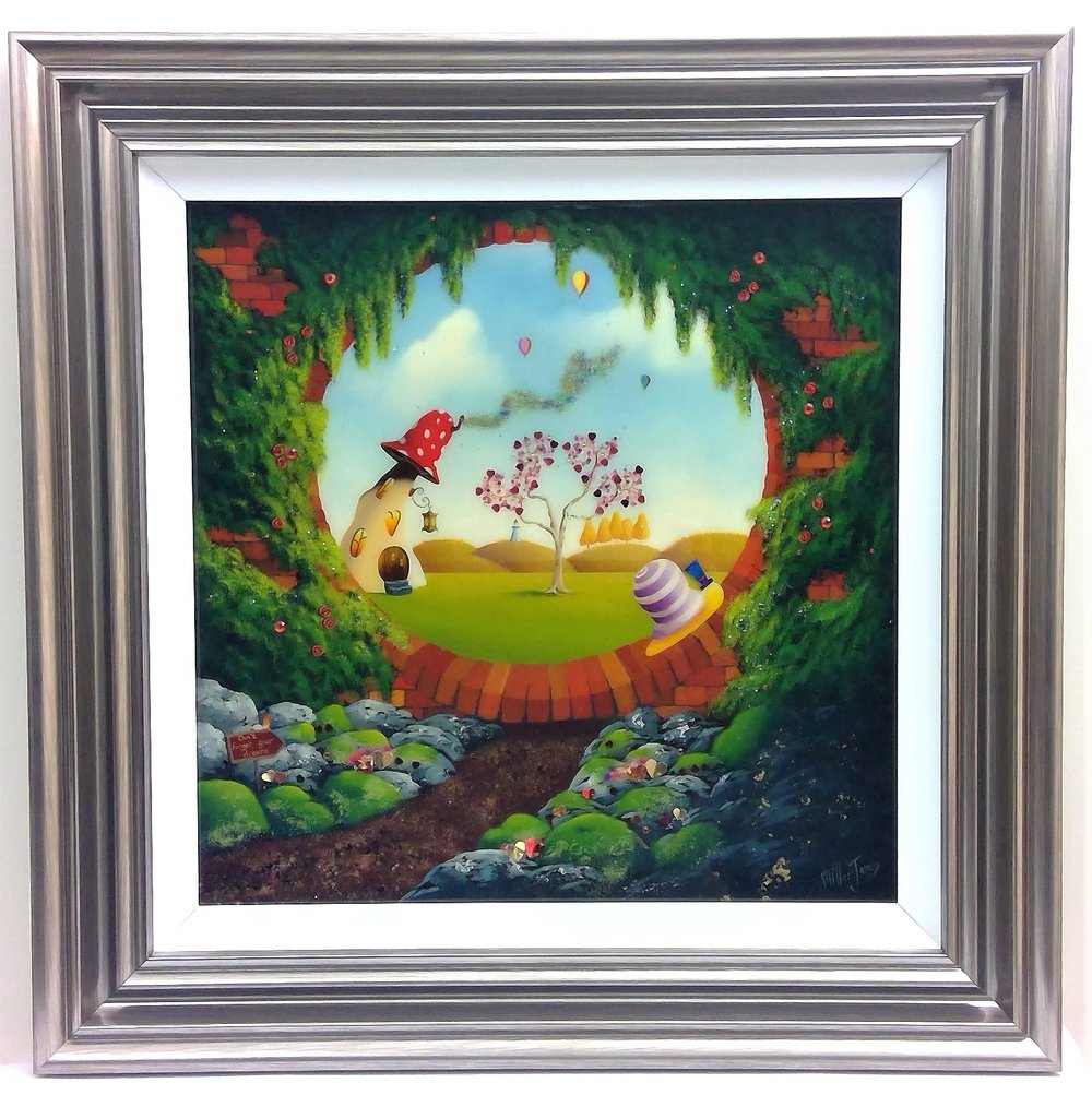 "'Heart Tree Lodge' - Framed size 28""x28""Was £495NOW £250SOLD"