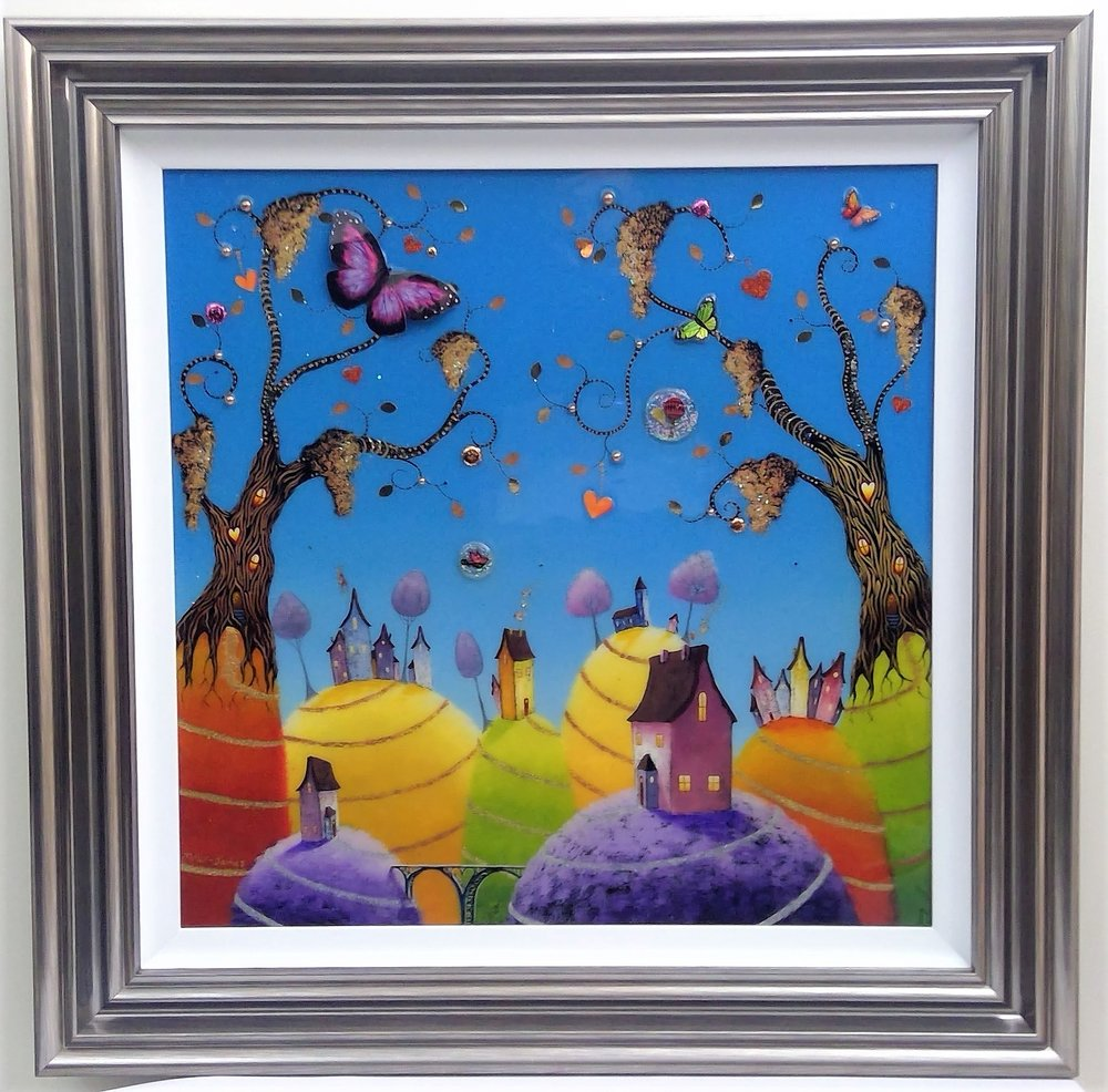 "'World's Away' - Framed size 32""x32""Was £495NOW £250SOLD"