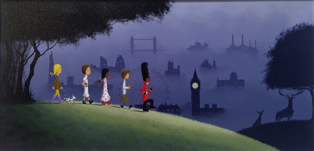 """'Explorers' - 12""""x24""""Oil on panelAvailable now"""