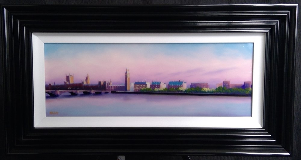 "'London Morning' - Framed size 17""x32""NOW £195SOLD"