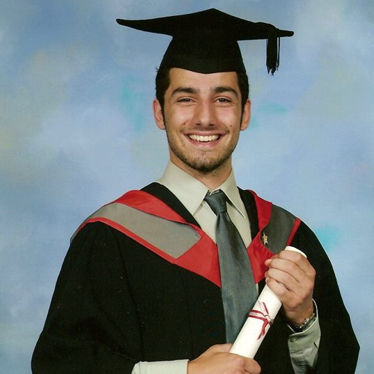 (At my graduation ceremony, 2006)