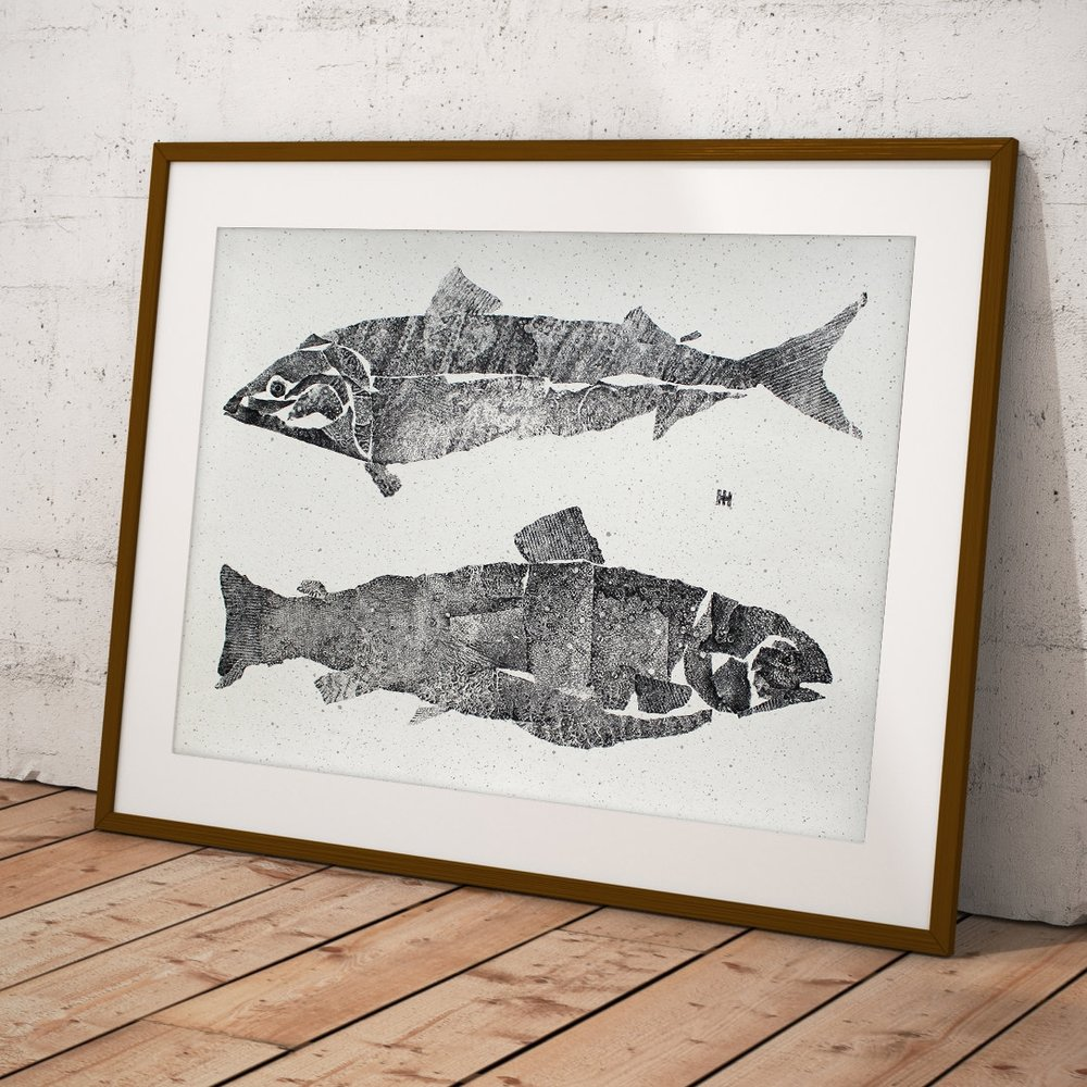 Mackerel & Trout   monoprint