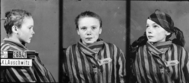 Famous pictures of Czeslawa Kwoka, a young Polish girl who would eventually die in Auschwitz. Taken by Willhelm Brasse.