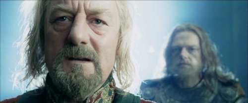 "Theoden: ""How did it come to this?"" (Lord of the Rings: The Two Towers, New Line Cinema - 2002)"