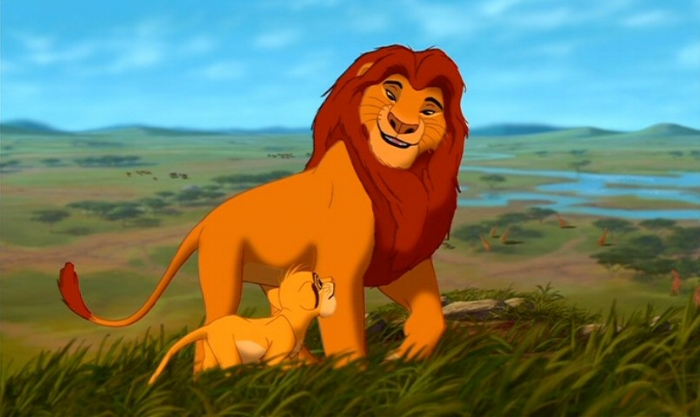 Mufasa laying some 'circle of life' wisdom on Simba in Disney's 1994 'The Lion King'
