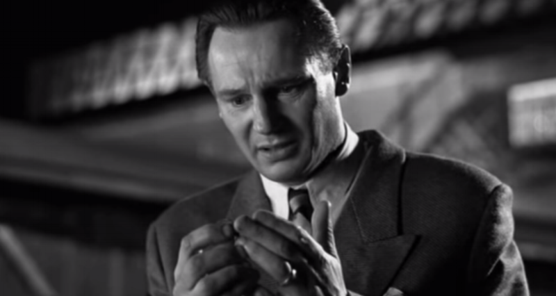 Liam Neeson, depicting Oscar Schindler, in 1993's  Schindler's List .