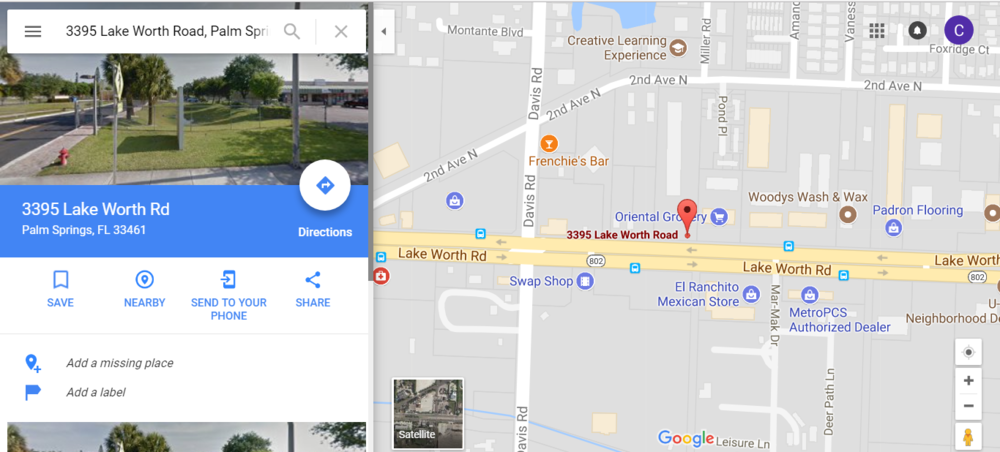 Google Map — FIGHT LAB