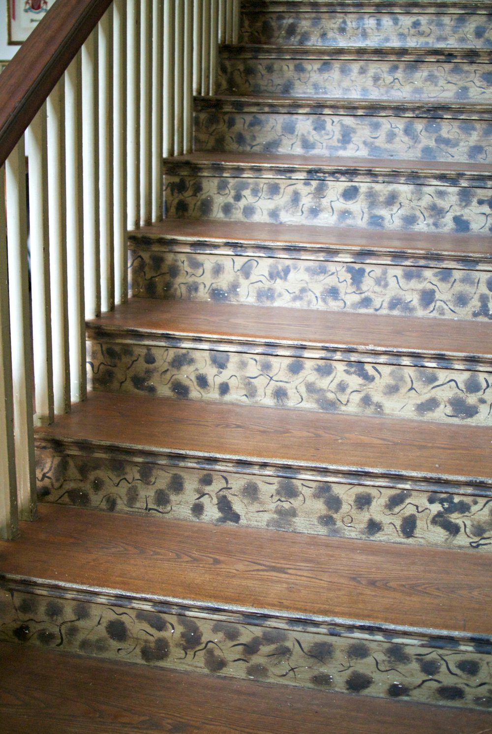 cragfont mansion stippling stairs