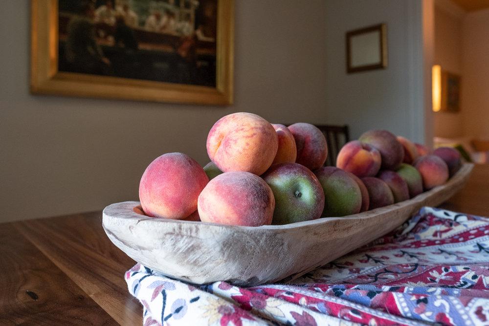 peach-apple crumble, vegan and gluten-free