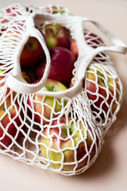 cotton fishnet tote