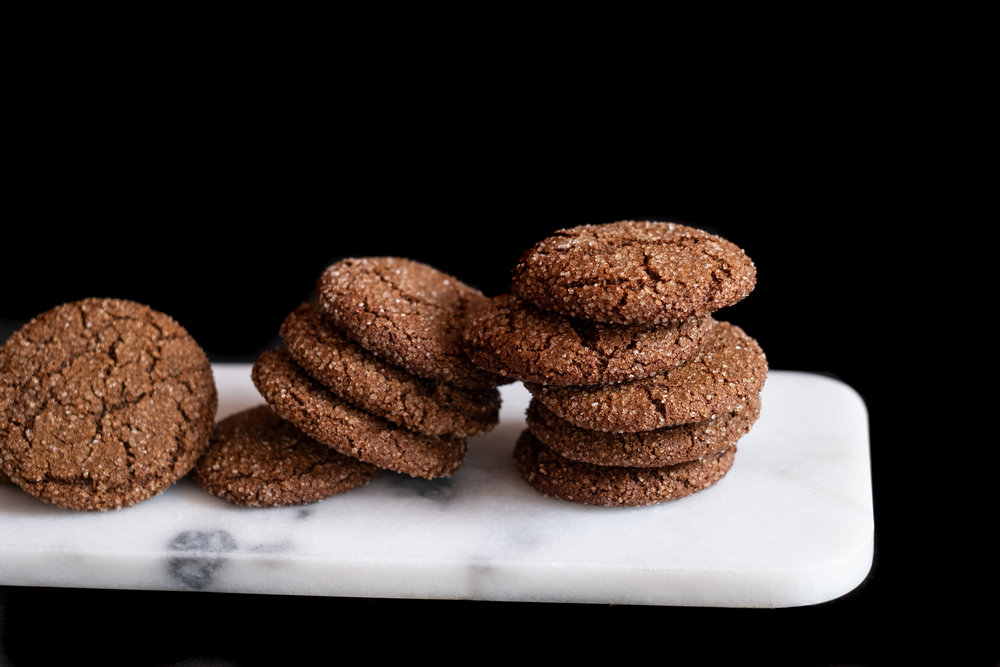 a spicy molasses cookie to nourish your soul