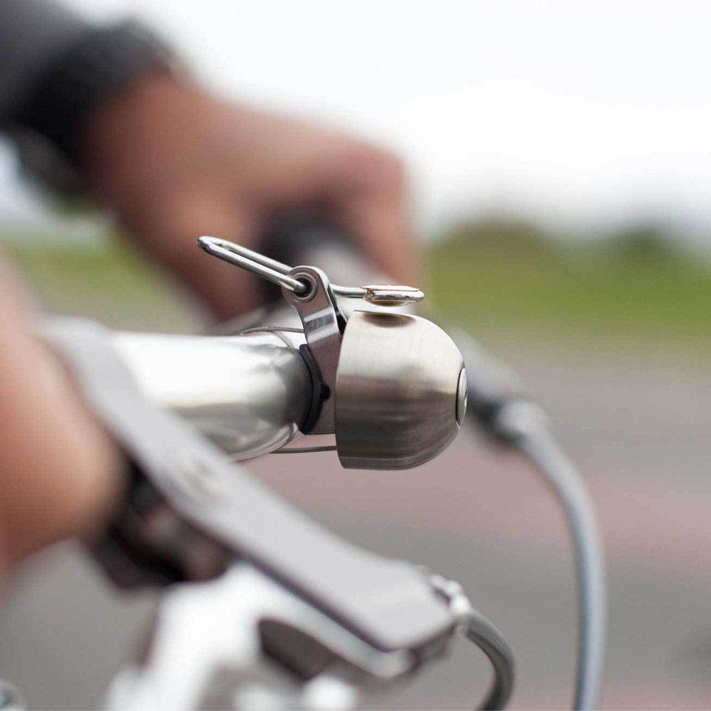 Spurcycle Bell: Spurcycle bells create powerful, enduring sound. Give notice well in advance with a loud, convincing tone. This is a seriously rad bike bell!