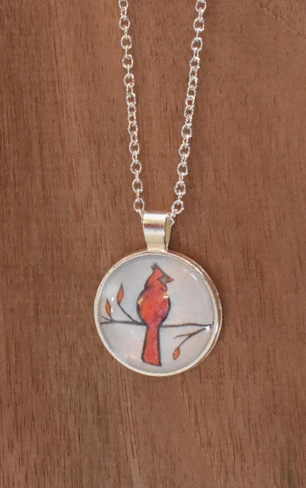 Small Cardinal Pendant