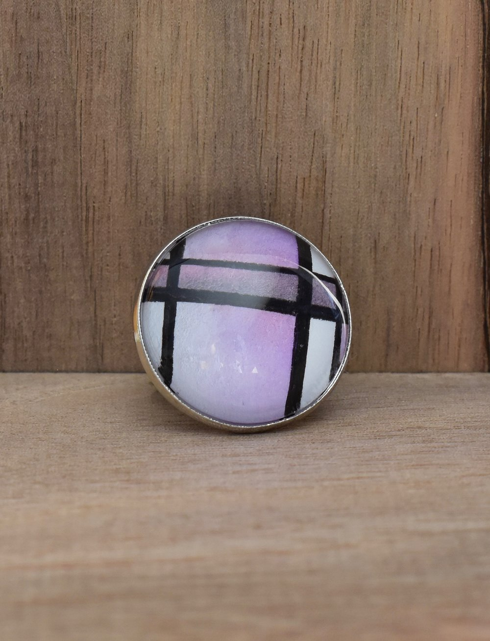 Purple Plaid Ring