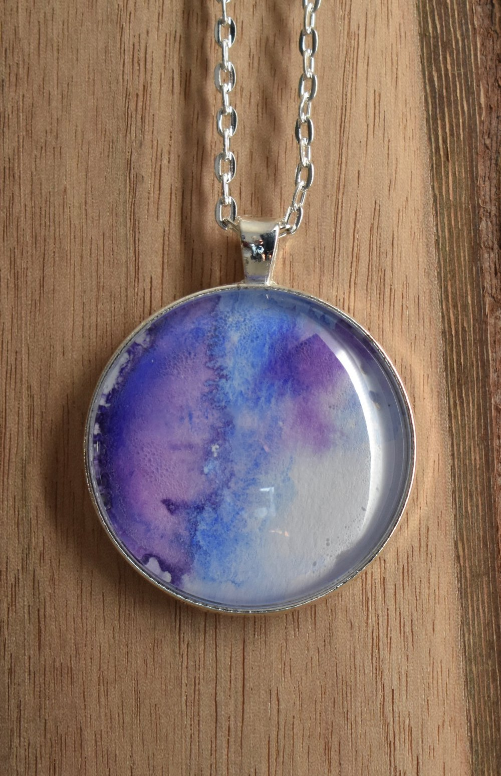 Bold Purple and Blue Large Pendant