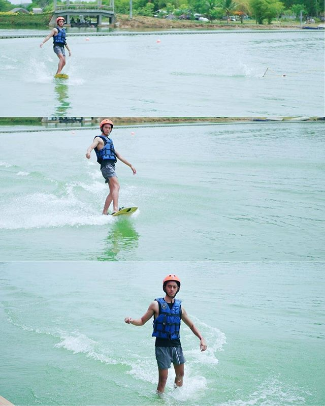 Wakeboarding is fun 😀 We provide free teaching and basic equipment ✌ Come & join us @twppattaya 🏝 #twp #bestwakepark #thaiwakepark 🏄‍♂️ @taylor_smith_thann