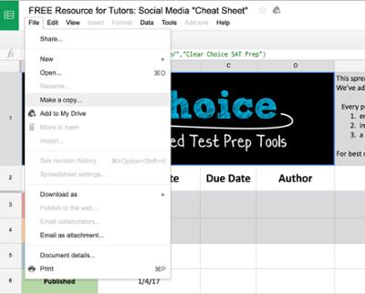 Copy a Google Spreadsheet