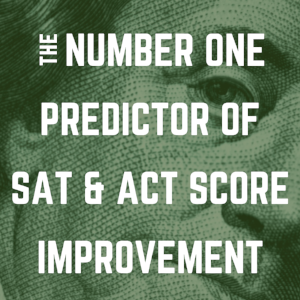 From the archives:  The Number One Predictor of Score Improvement