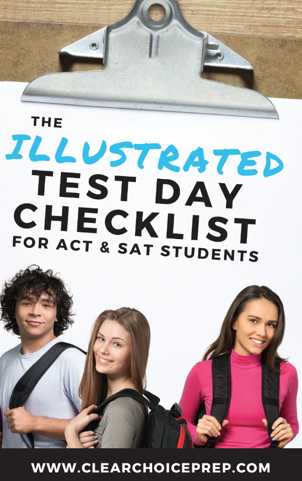 Illustrated Test Day Checklist for ACT and SAT Students