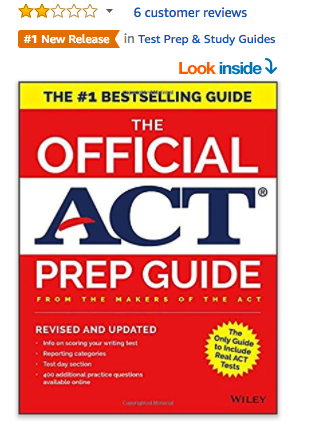 Official ACT Prep Guide Rated 2 Stars
