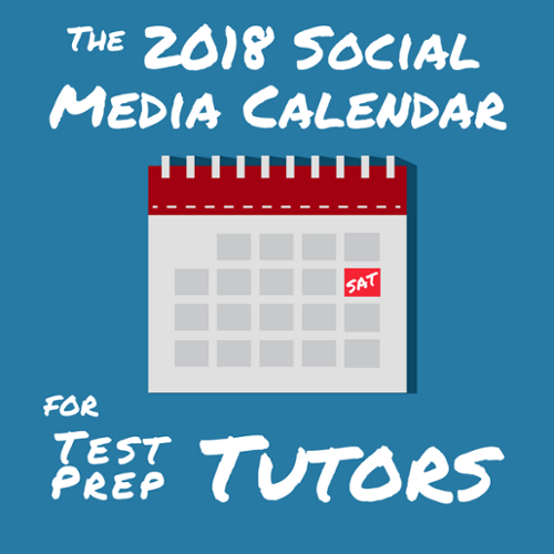 social media calendar cheat sheet for test prep tutors 2018