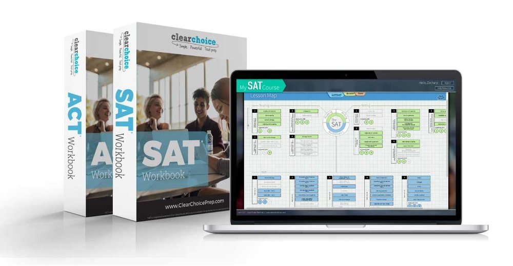 custom branded sat and act test prep curriculum workbooks and app