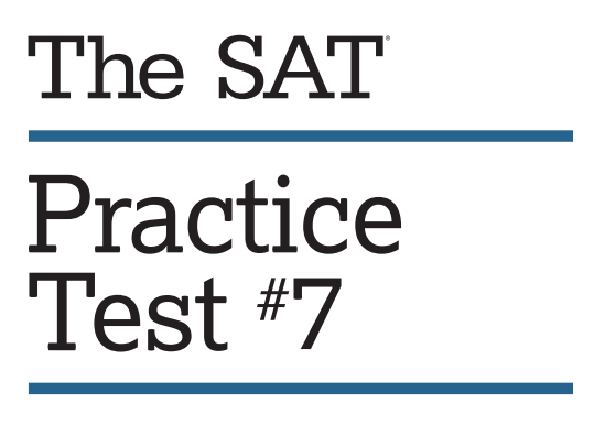 Get Ready to Download Official SAT Practice Test #7 — SAT