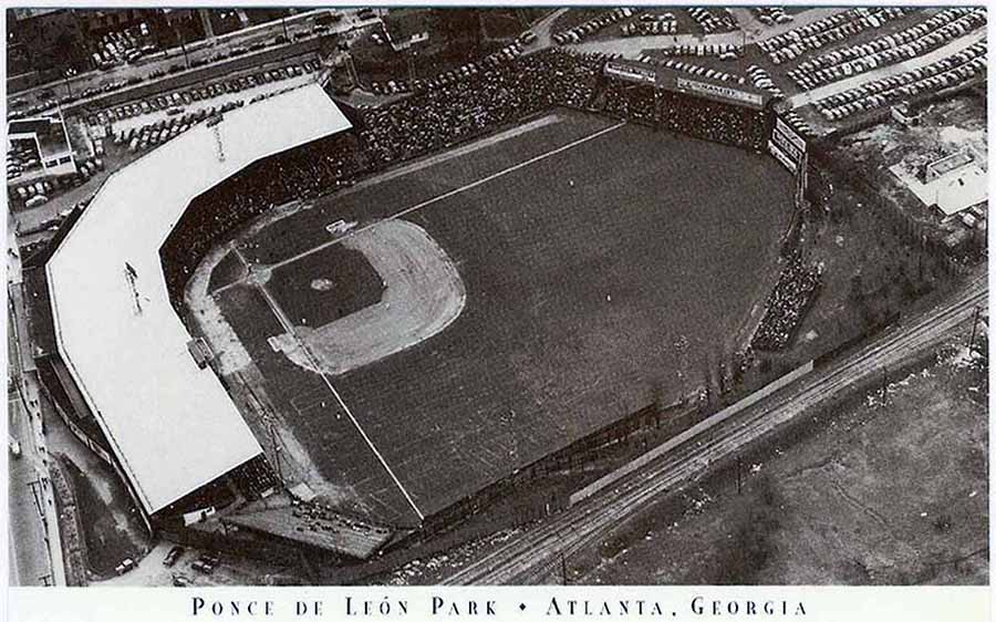 Ponce de Leon Park, home of the Atlanta Crackers and the Atlanta Black Crackers. Second only to Yankee Stadium in housing the most championship teams in its 58-year history.