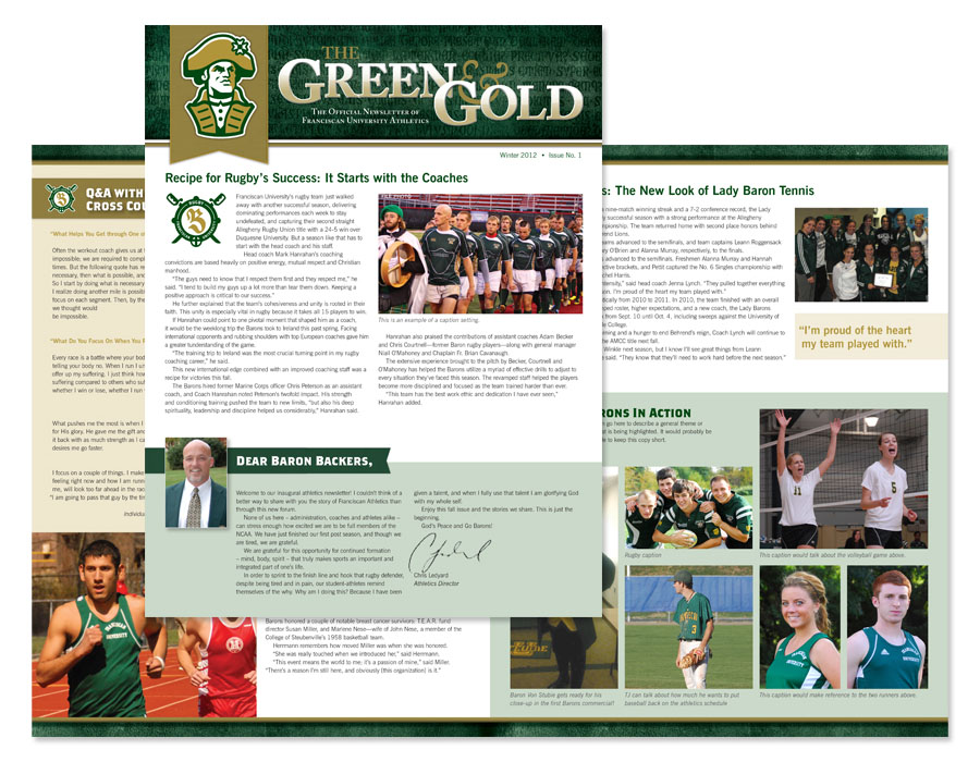 Franciscan University of Steubenville Athletics Newsletter