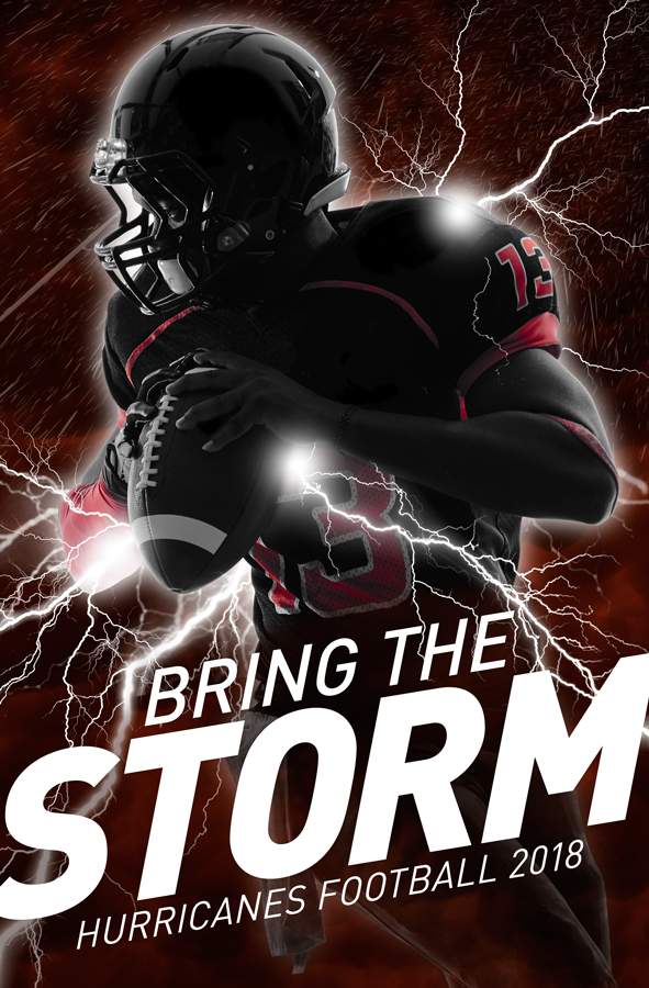 Hurricanes Football Poster