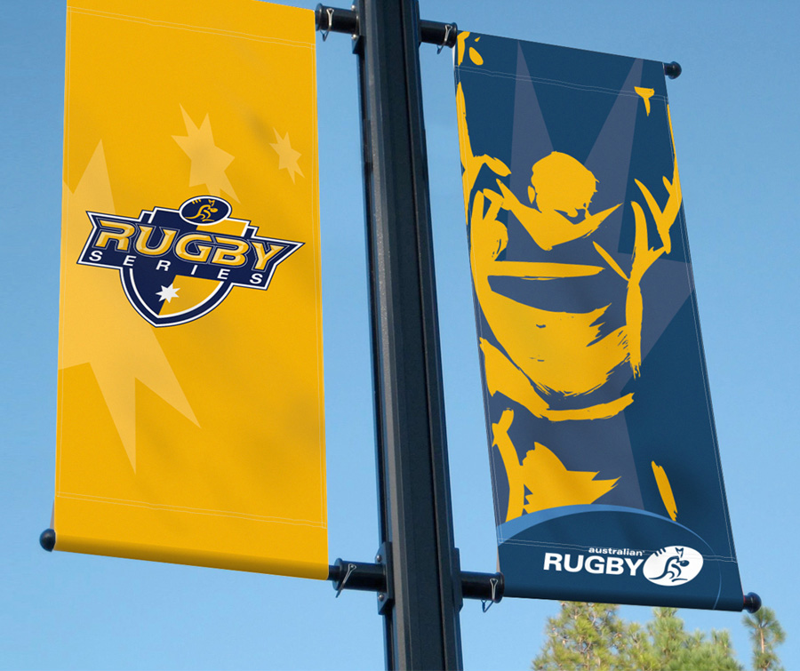 Australian Rugby Union Street Banners