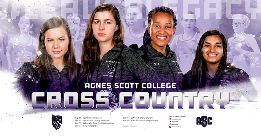 Agnes Scott College Cross Country Schedule Poster