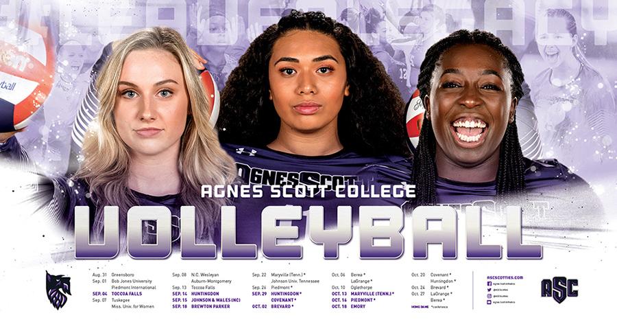 Agnes Scott College Volleyball Schedule Poster
