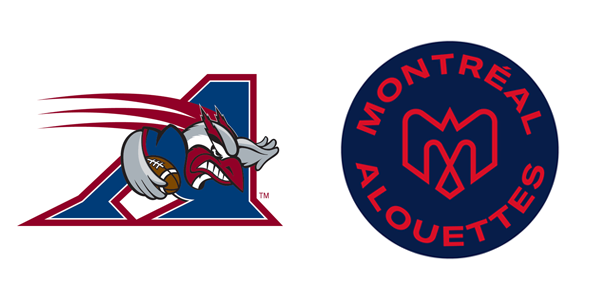 Old logo on left, new mark on right.