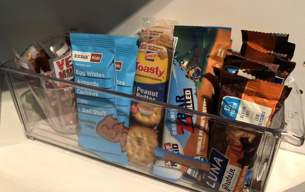 Pantry snack storage a la Enriched Family